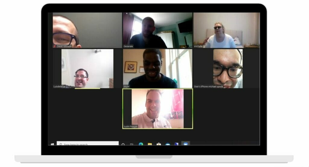 Our members have loved catching up with each other over zoom while social distancing.